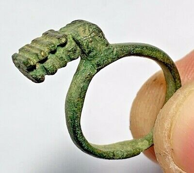 Ancient Roman Bronze Pendant or ring Key Circa 100-400 AD 5.4gr 25mm (inner 18mm