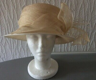 M&S Autograph Beige Formal Hat One Size