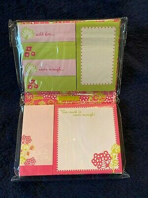 """NEW Lilly Pulitzer Sticky Note Set Bloomers Pattern """"Stuck On You"""""""