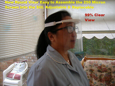 2, 5, 10, 15, 20, 50 100, 250 Micron Full Face Cover, Glasses, Face Protection