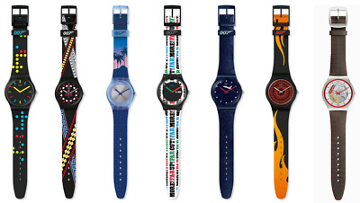 Complete James Bond 2020 Swatch collection (7 watches) - Free UPS Shipping