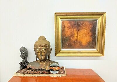 """CHINESE 20"""" HINDU HAND CARVED LARGE BRONZE ANTIQUE BUDDHA HEAD SCULPTURE 95lbs"""