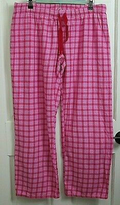 Xhilaration Womens Size L (33x29) Pink Plaid Lounge Pants 100% Cotton