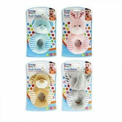 First Steps Plush Rattle Assorted