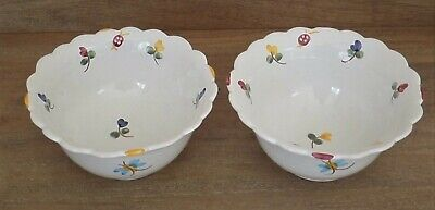 Lot of 2 French Pottery Bowls - Martine Gilles for Faiencerie d'Art de Malicorne