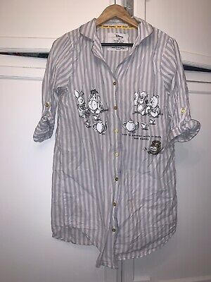 Primark Disney Ladies White And Grey Winnie The Pooh Night Shirt Size 10-12