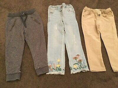 Girls jeans/ joggers age 3-4 all clean next zara