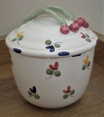 French Pottery Sugar Bowl by Martine Gilles for Faiencerie d'Art de Malicorne