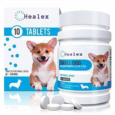 Healex Broad Spectrum Dewormer for Small Dog 10 Tablets Exp 11/06/2022
