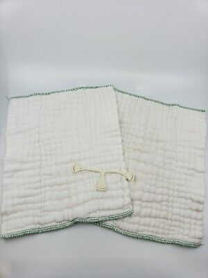 2 prefolds cloth diapers with snappi clip
