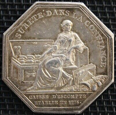 Token Caisse D'Discount Established in 1776 Silver