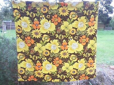 GISELLA  by  GUMMERSON   Taped CURTAIN   Rubber Backed     RETRO VINTAGE FABRIC