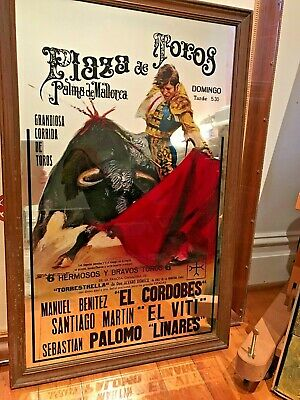 VINTAGE PLAZA de TOROs  MIRROR  AT LEAST 50 YEARS OLD PUB ADVERTISING