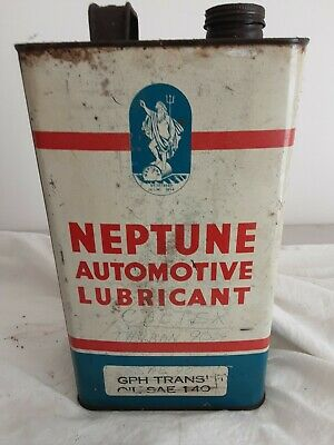 Neptune 1 Gallon  Tin Vintage