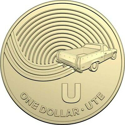 "2019 Australia Post Office Alphabet Letter "" U "" $1 Coin - Great Coin Hunt"