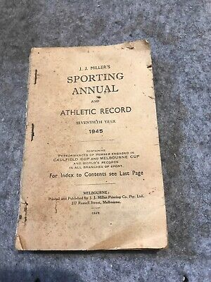 Sporting Annual Athletic Record J.j.millers 1945