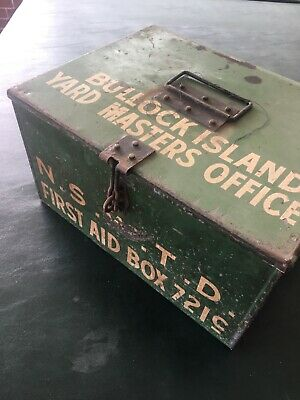 NSWTD Railway Bullock Island Yard Masters Office First Aid Box