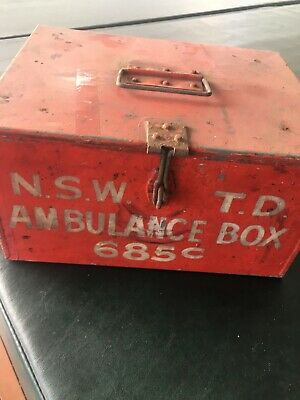NSWTD Railway First Aid Ambulance Box 1950s No 685c
