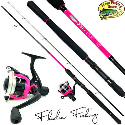Fladen Xtra Flexx Spinning Combo Fucsia - Varilla Spinning+Carrete+Cable - Pesca