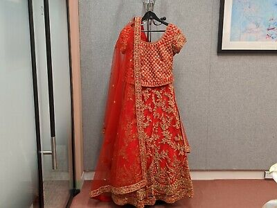 Red Indian Bridal Lengha - Size 12 - Never Worn