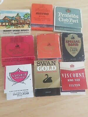 Vintage match boxes Liquors And Somkes Some Matches Have Been Struck