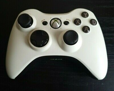 SEE DESC Genuine Xbox 360 Controller Black White Custom Buttons | B Button Fault