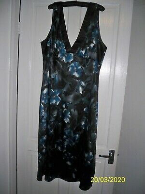 New Portfolio Lingerie Marks and Spencer Black & Blue Nightdress size 22