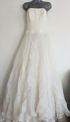 Caroline Castigliano Silk/Acetate Wedding Dress. Pre-owned. Size UK 6. Bust- 30""