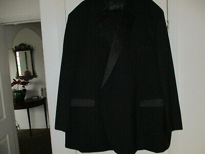 Mens Black Evening Suit Jacket 62R - Trousers 60R