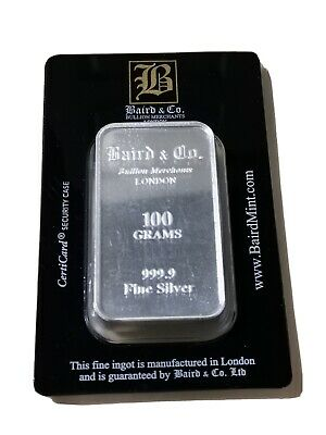 Baird & Co 100g Silver Bar