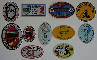 11 Mixed Mining Stickers