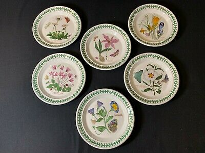 Portmeirion The Botanic Garden A Collection of SIX 7.5 inch Dinner Plates