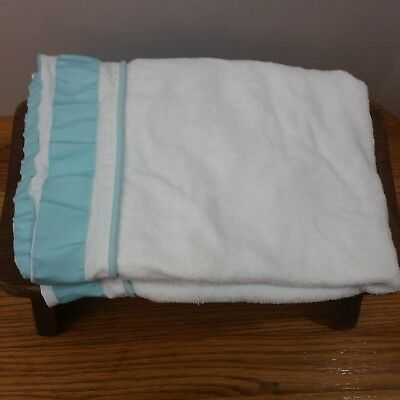 Pottery Barn Kids Changing Table Cover Teal White