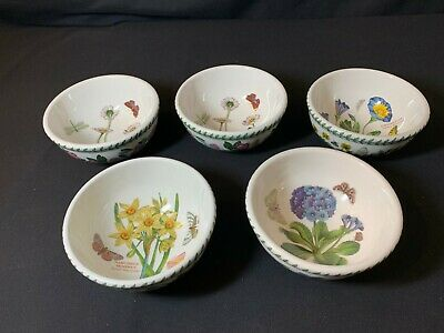 Portmeirion The Botanic Garden A Collection of FIVE 5.5 inch Bowls