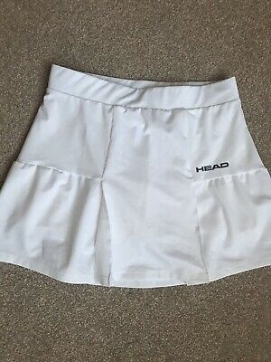 Girls White Tennis Skirt Size 164cm