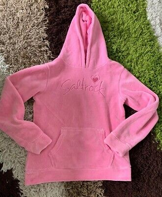 Girls Salt Rock, Towelling Hoodie, Pink , Age 11 12 11-12 Lounge Wear Soft Touch