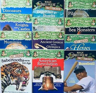 12 lot Magic Tree House books Research Guides/Fact Trackers by Mary Pope Osborne