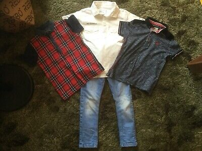 NEXT Boys Summer T-Shirts Polo Shirts Tops & Blue Skinny Jeans   -  Age 5 Years