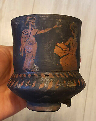 Very Rare Pottery, Terracotta ,Thracian Drinking cup , Red-Figure, - 600-400 BC