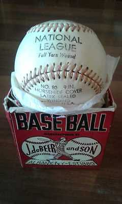 J. deBEER and SON Baseball in Unopened Box Albany, NY est 1889 P-Official