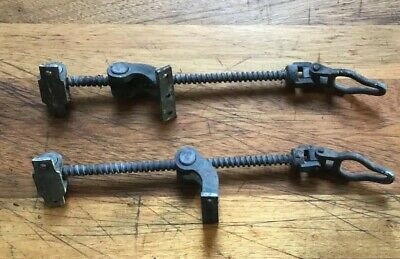 Exceptional Pair Antique Large Brass Screw Jack Window Openers Skylight Stays
