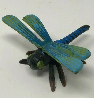 New Cast Iron Painted Colorful Dragonfly Paperweight Garden Decor Spring Flying