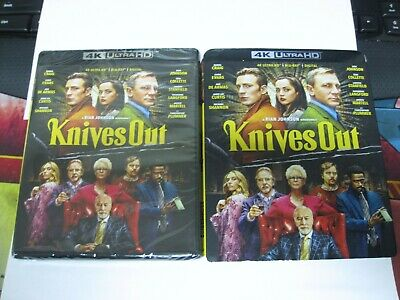 KNIVES OUT 2019 UHD 4K BLU RAY DIGITAL NEW SEALED WITH SLIPCOVER FreeShip movie