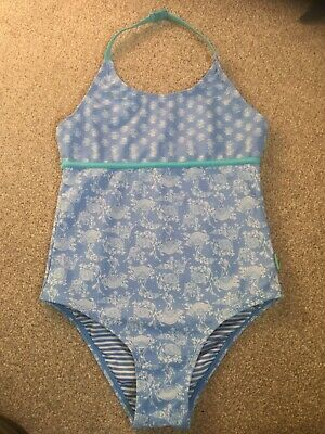 FAT FACE Girls Blue Swim Suit Costume  -  Age 10-11 Years
