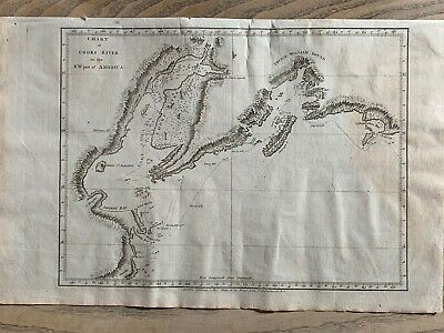 1784 Chart Of Cook Inlet Alaska Original Antique Map From Captain Cook's Voyages