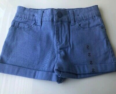 Kids Girls Size 2 Periwinkle Shorts Emerson Nwt Purple