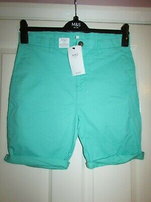 girls sea green colour shorts with adjustable waist from m&s age 12-13yrs,BNWT