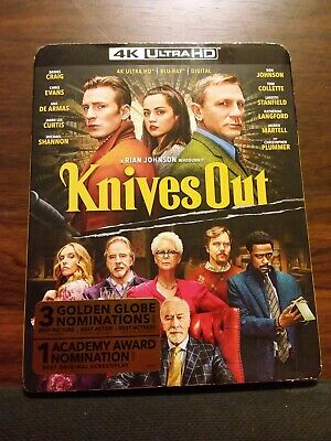 Knives Out (4K + Blu Ray+digital) Like New With Slipcover
