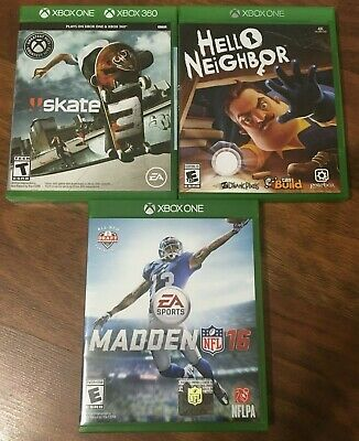 Various   Microsoft Xbox One Video Games   List for X-One Console   No Reserve