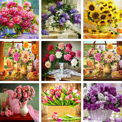 2020 DIY Paint By Number Kit Digital Oil Painting Canvas Flower Art Wall Decor